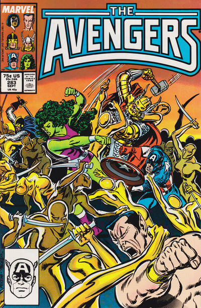 Cover for The Avengers (Marvel, 1963 series) #283 [Direct Edition]