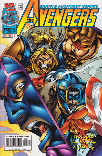 Cover for Avengers (Marvel, 1996 series) #2 [Direct Edition]