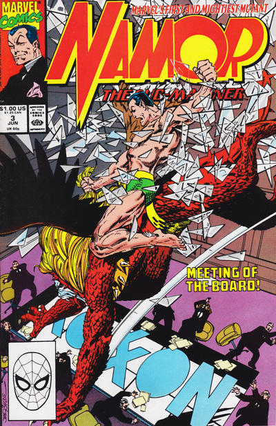 Cover for Namor, the Sub-Mariner (Marvel, 1990 series) #3 [Newsstand]