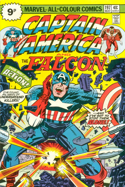 Cover for Captain America (Marvel, 1968 series) #197 [British price variant]