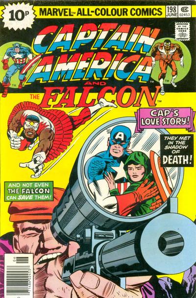 Cover for Captain America (Marvel, 1968 series) #198 [British price variant]