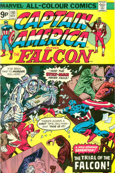 Cover for Captain America (Marvel, 1968 series) #191 [Regular Edition]