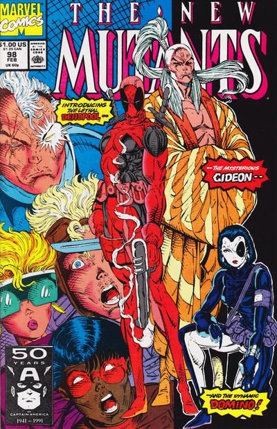 Cover for The New Mutants (Marvel, 1983 series) #98 [newsstand]
