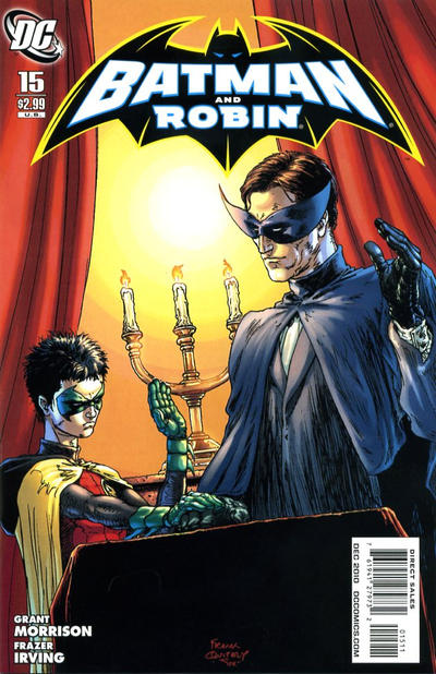 Cover for Batman and Robin (DC, 2009 series) #15 [Frazer Irving Variant Cover]