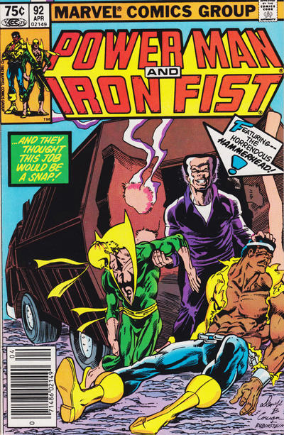 Cover for Power Man and Iron Fist (Marvel, 1981 series) #92 [newsstand]