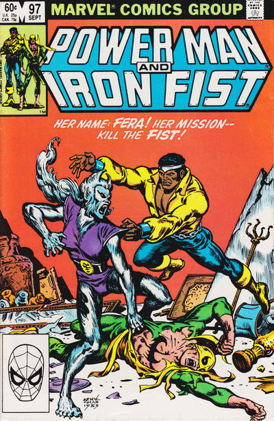 Cover for Power Man and Iron Fist (Marvel, 1981 series) #97 [newsstand]