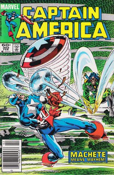 Cover for Captain America (Marvel, 1968 series) #302 [Direct Edition]