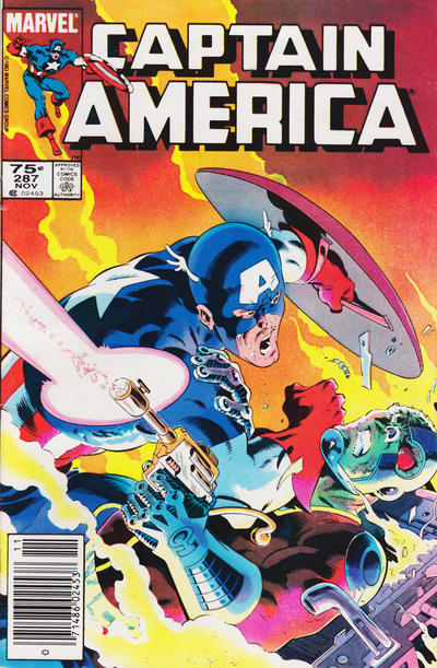 Cover for Captain America (Marvel, 1968 series) #287 [Canadian Newsstand Edition]