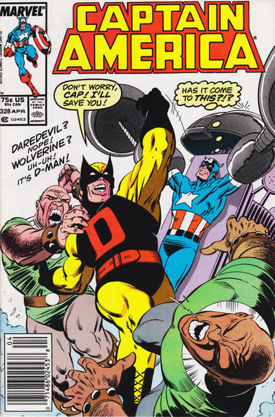 Cover for Captain America (Marvel, 1968 series) #328 [Direct]