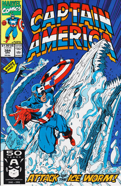 Cover for Captain America (Marvel, 1968 series) #384 [Newsstand Edition]