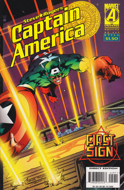 Cover for Captain America (Marvel, 1968 series) #449 [Newsstand Edition]