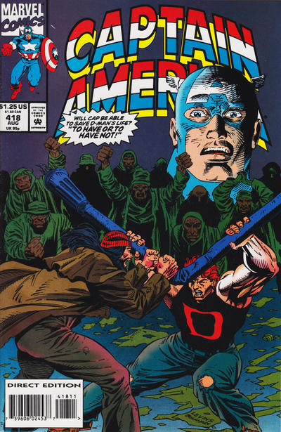 Cover for Captain America (Marvel, 1968 series) #418 [Direct Edition]