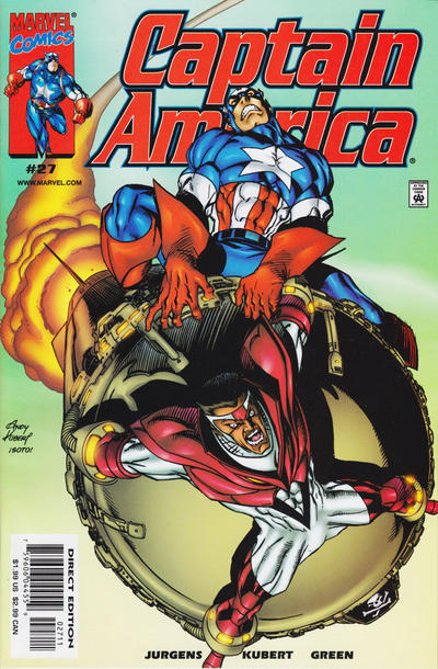 Cover for Captain America (Marvel, 1998 series) #27 [Newsstand Edition]