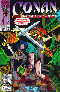 Cover for Conan the Barbarian (Marvel, 1970 series) #256 [Newsstand Edition]