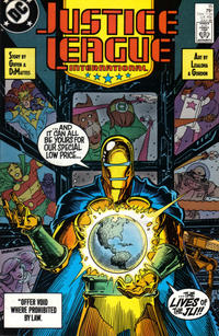Cover Thumbnail for Justice League International (DC, 1987 series) #15 [Direct]