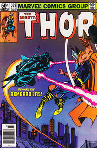 Cover Thumbnail for Thor (Marvel, 1966 series) #309 [Newsstand]