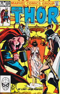 Cover Thumbnail for Thor (Marvel, 1966 series) #335 [Direct]