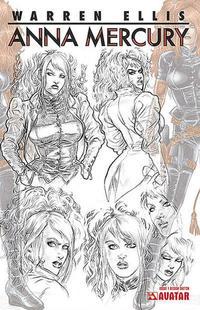 Cover Thumbnail for Anna Mercury (Avatar Press, 2008 series) #1 [Design Sketch]