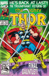 Cover Thumbnail for Thor (Marvel, 1966 series) #457 [Direct]