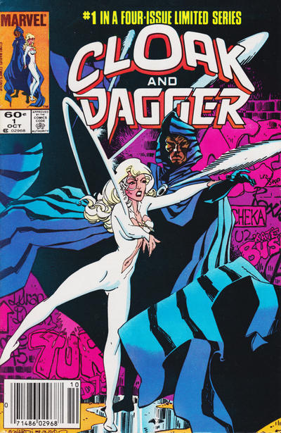 Cover for Cloak and Dagger (Marvel, 1983 series) #1 [Newsstand Edition]