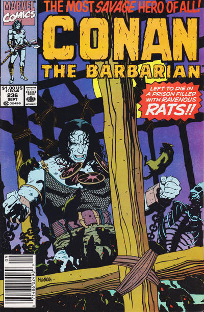 Cover for Conan the Barbarian (Marvel, 1970 series) #236 [Direct Edition]