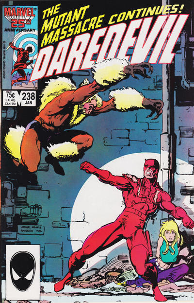 Cover for Daredevil (Marvel, 1964 series) #238 [Direct Edition]
