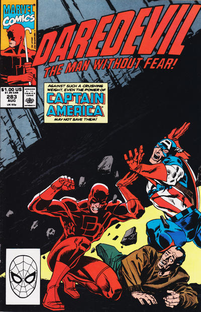 Cover for Daredevil (Marvel, 1964 series) #283 [Direct Edition]