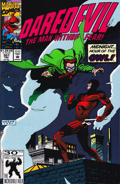 Cover for Daredevil (Marvel, 1964 series) #301 [Direct Edition]