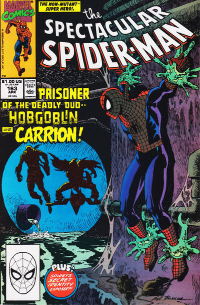 Cover for The Spectacular Spider-Man (Marvel, 1976 series) #163 [newsstand]