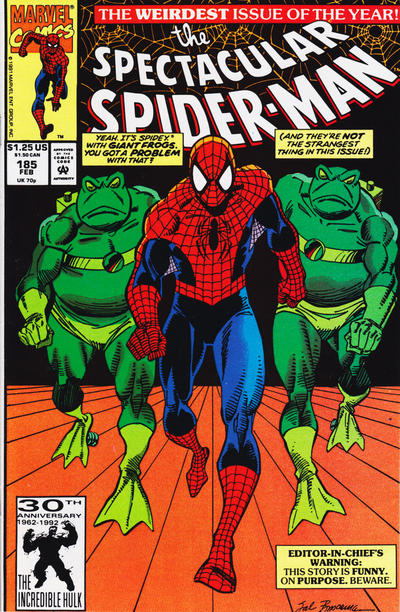Cover for The Spectacular Spider-Man (Marvel, 1976 series) #185 [Direct]