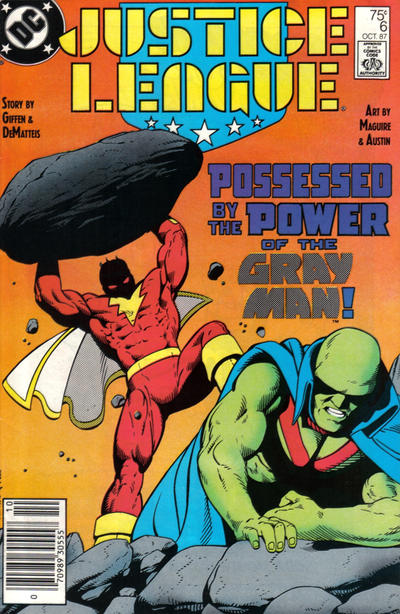 Cover for Justice League (DC, 1987 series) #6 [Newsstand]