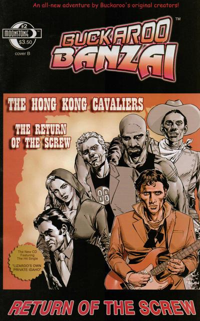 Cover for Buckaroo Banzai: Return of the Screw (Moonstone, 2006 series) #2 [Cover A]