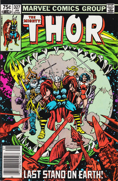 Cover for Thor (Marvel, 1966 series) #327 [Newsstand]