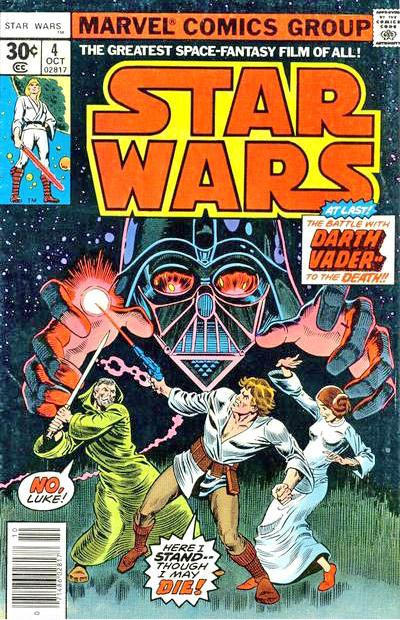 Cover for Star Wars (Marvel, 1977 series) #4 [Newsstand Edition 30 Cent Cover Price]