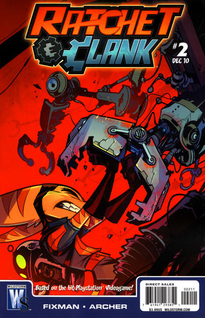 Cover for Ratchet & Clank (DC, 2010 series) #2