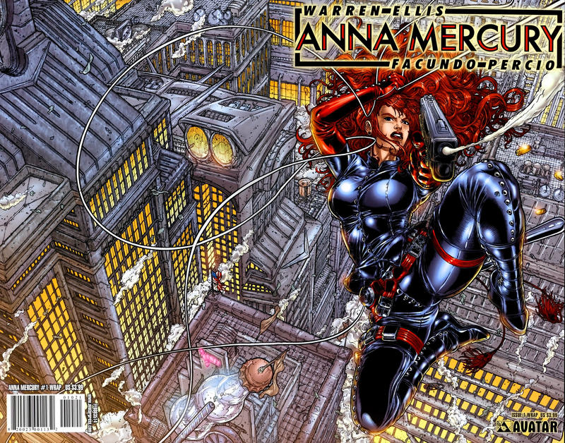 Cover for Anna Mercury (Avatar Press, 2008 series) #1 [Wizardworld Chicago]