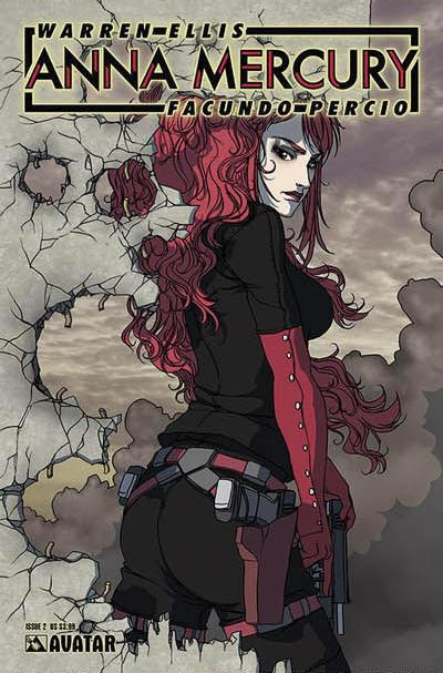 Cover for Anna Mercury (Avatar Press, 2008 series) #2