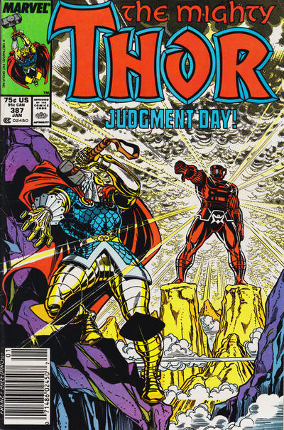 Cover for Thor (Marvel, 1966 series) #387 [Newsstand]