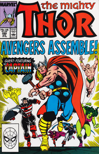 Cover for Thor (Marvel, 1966 series) #390 [Direct]