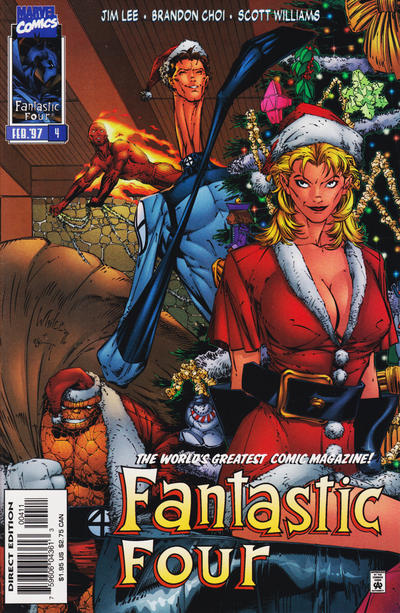 "Cover for Fantastic Four (Marvel, 1996 series) #4 [Variant Cover (""Christmas Cover"")]"