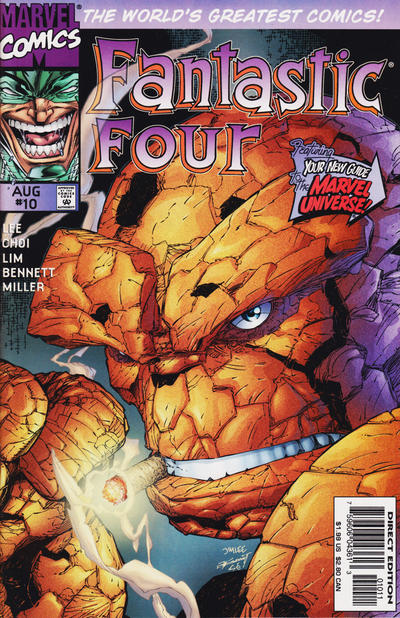Cover for Fantastic Four (Marvel, 1996 series) #10 [Newsstand]
