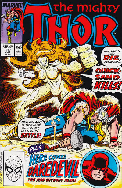 Cover for Thor (Marvel, 1966 series) #392 [Newsstand Edition]