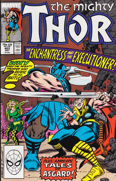 Cover for Thor (Marvel, 1966 series) #403 [Newsstand Edition]