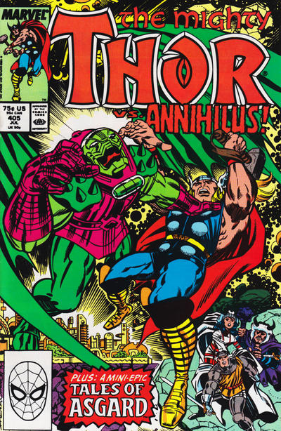 Cover for Thor (Marvel, 1966 series) #405 [Direct Edition]
