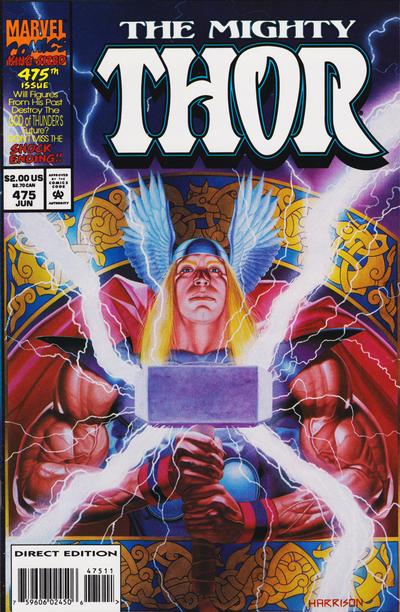 Cover for Thor (Marvel, 1966 series) #475 [Enhanced cover]