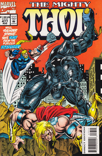 Cover for Thor (Marvel, 1966 series) #477 [Newsstand Edition]