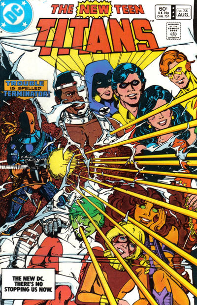 Cover for The New Teen Titans (DC, 1980 series) #34 [Newsstand]