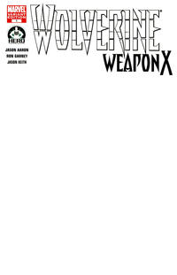 Cover Thumbnail for Wolverine Weapon X (Marvel, 2009 series) #1 [Variant Edition - Blank Cover]