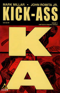 Cover Thumbnail for Kick-Ass (Marvel, 2008 series) #1 [Umpteenth Printing Variant]