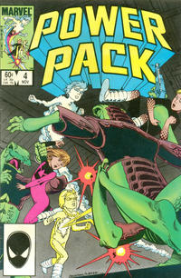 Cover Thumbnail for Power Pack (Marvel, 1984 series) #4 [Direct Edition]